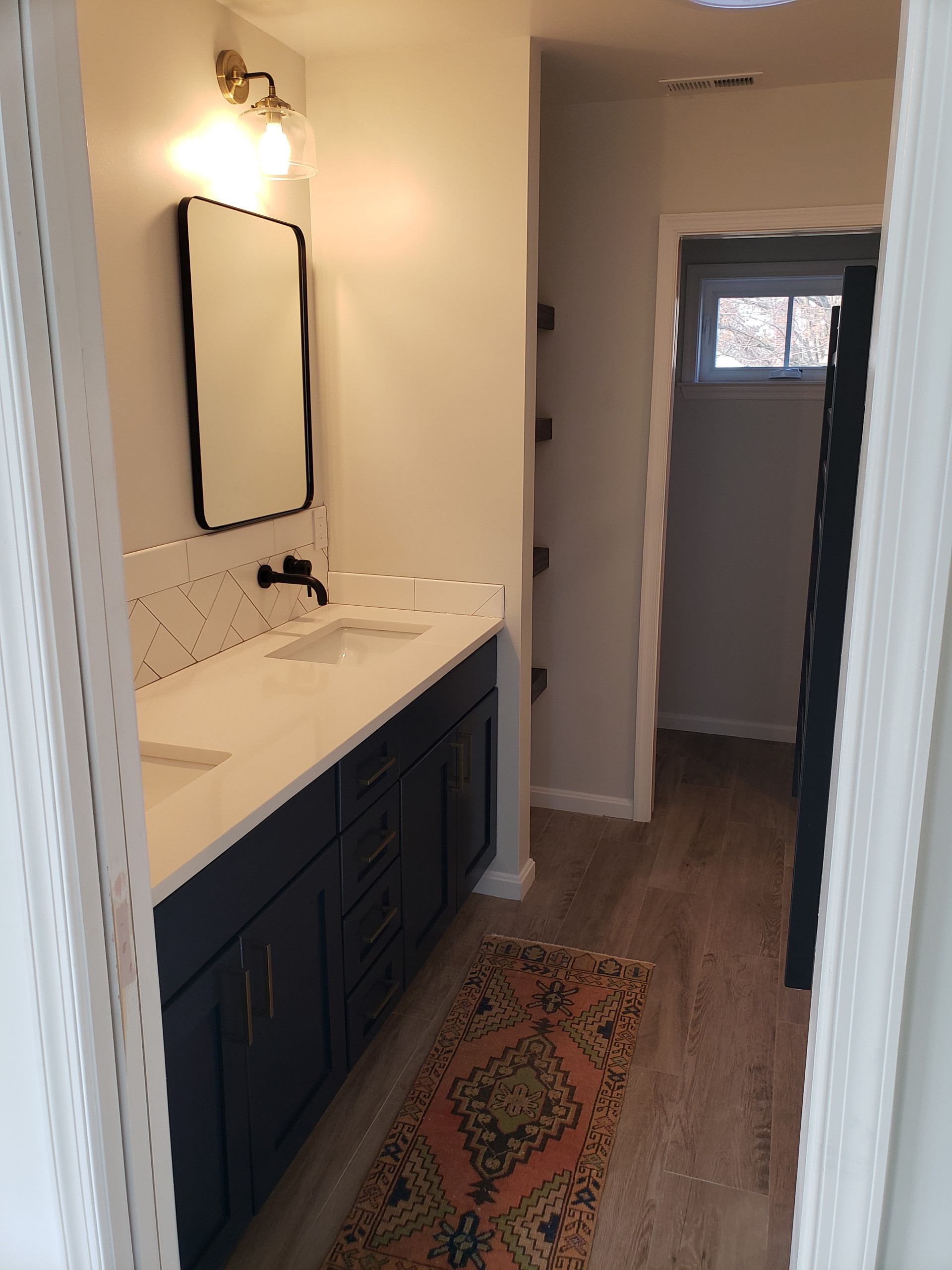 Master Suite with open shelves