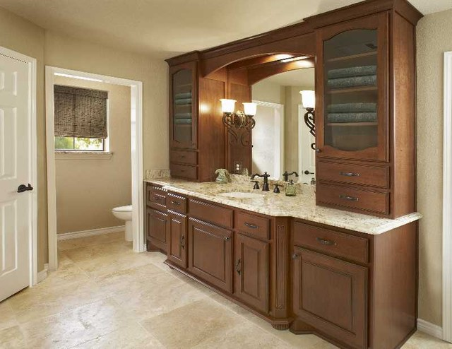 Master Vanity single sink traditional-bathroom