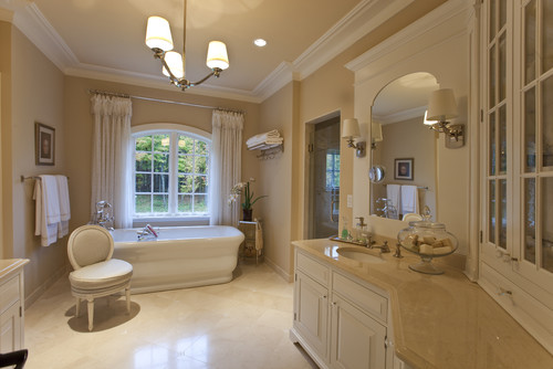 Hello we want to use crema marfil marble for our shower - Best paint color for crema marfil bathroom ...