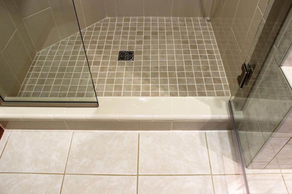 Shower And Vanity Quartz Countertop