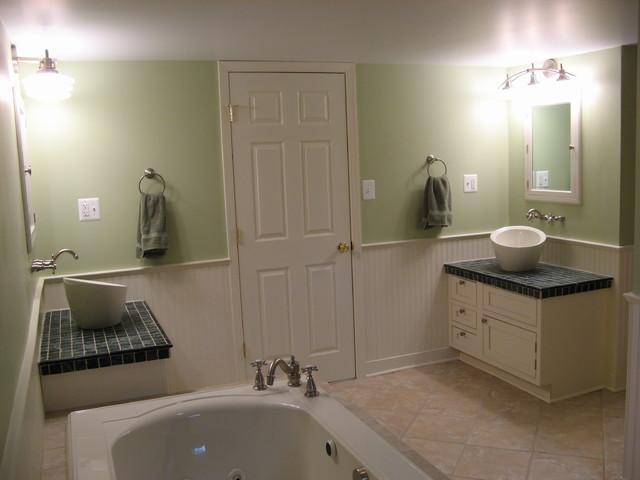 Matching Vanities in Master Bathroom eclectic-bathroom