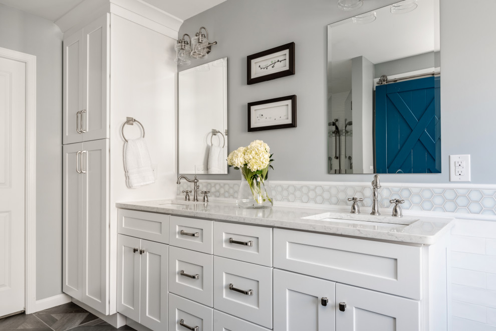 Matthews, NC Master Bathroom remodel - Transitional ...