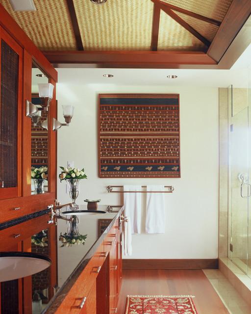 Maunalua Bay Estate tropical-bathroom
