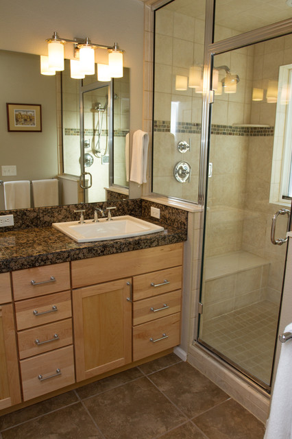 Maximizing A Small Master Bath Traditional Bathroom Denver By Quality Renovations Home