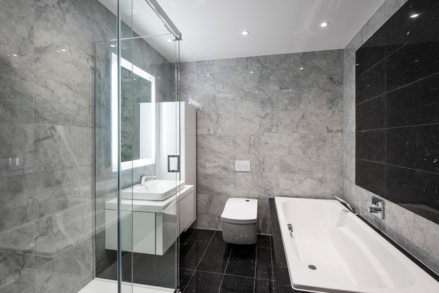 Mayfair apartmentba contemporary bathroom london Bathroom design company london