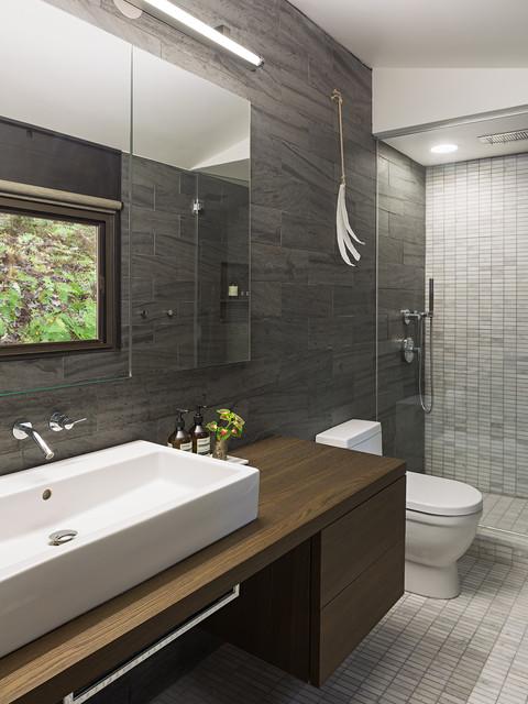 Upper Main Line Residence midcentury-bathroom
