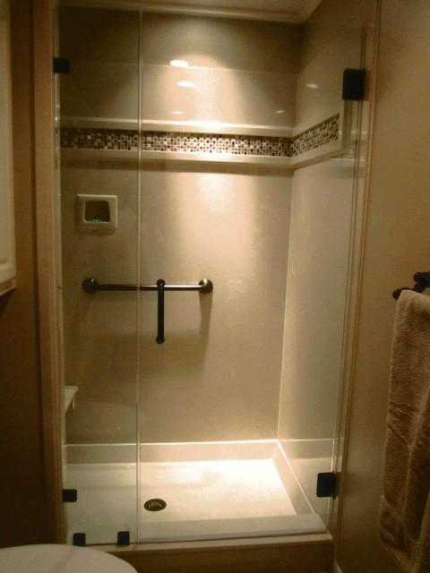 McLarrin Flooring & Counter Tops traditional-bathroom