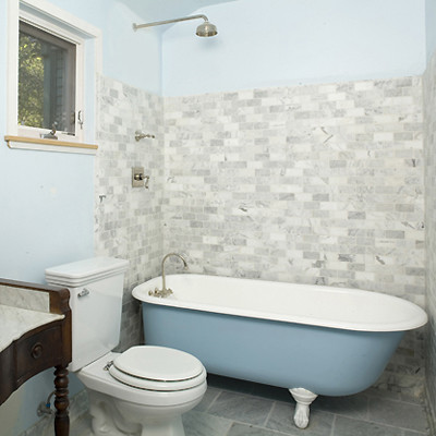 MEA   Kennedy Street Residence rustic bathroomMEA   Kennedy Street Residence. Showering In A Clawfoot Tub. Home Design Ideas