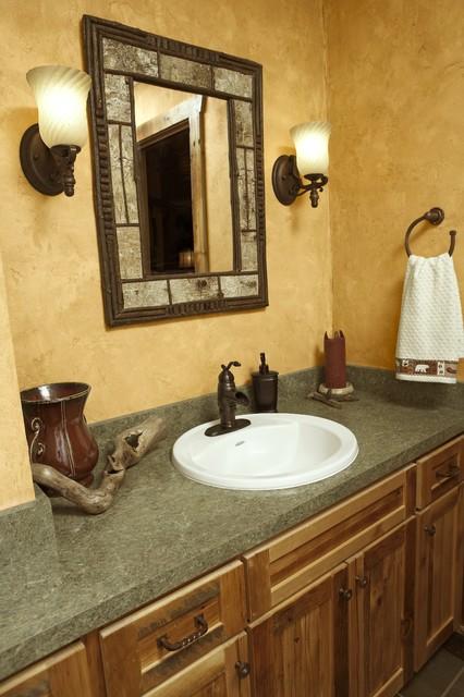 Meadowlark Lane Residence Bathroom - Rustic - Bathroom - minneapolis - by mackmiller design+build