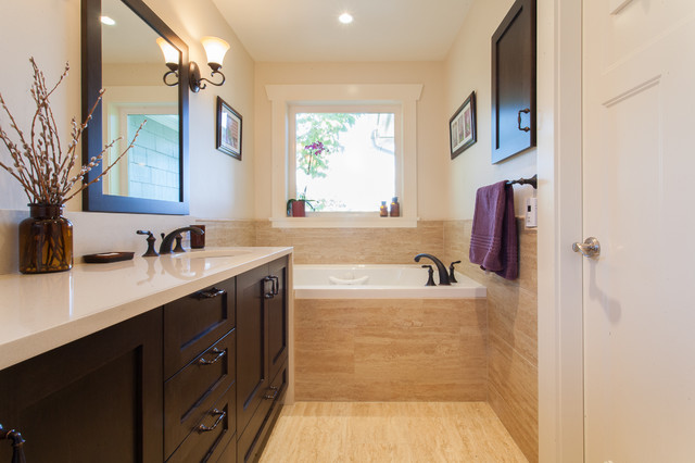 Meandering Serenity Custom Home Traditional Bathroom