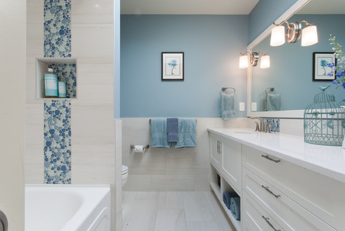 Why choose large rectangular tile for Rectangular bathroom layout