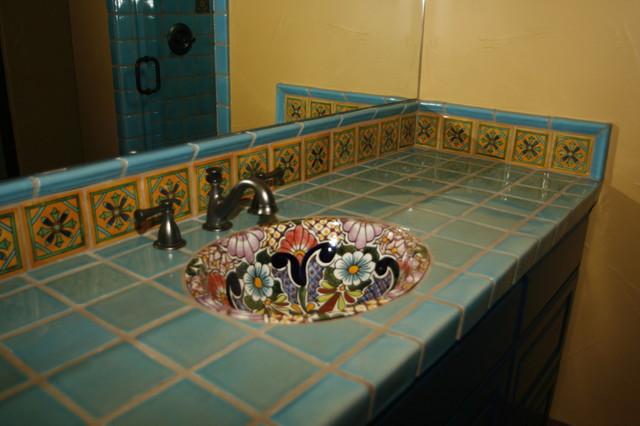 Clay Imports Artesanal mediterranean-bathroom