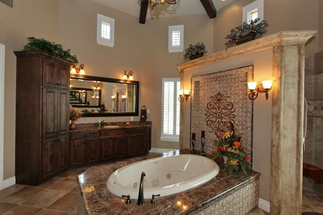 Bathroom Of Mediterranean Style Homes: Elegant Bathrooms In The Texas Hill Country By Stadler