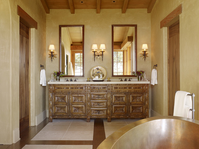 24 Mediterranean Bathroom Ideas: Mediterranean Bathroom