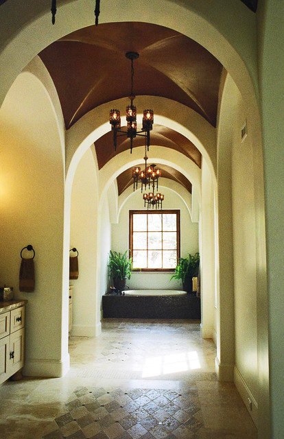 Mediterranean, California Mission, Spanish Colonial mediterranean bathroom