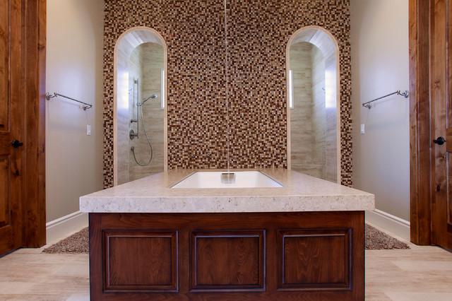 Mediterranean style master bath mediterranean bathroom for Mediterranean style bathroom