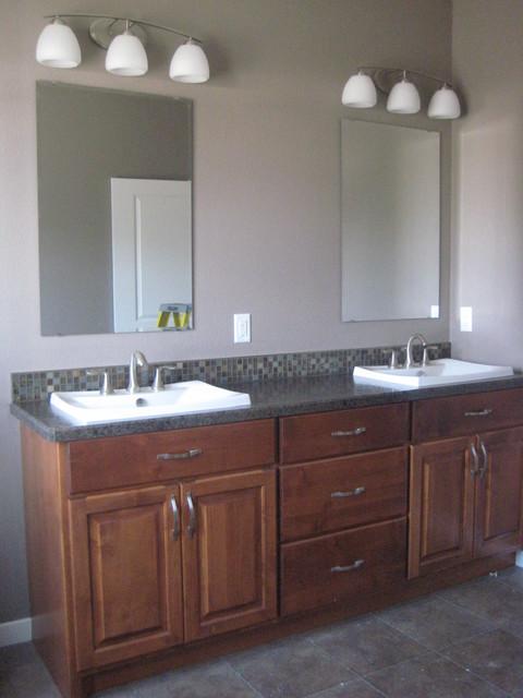 Medium-Dark Alder traditional-bathroom