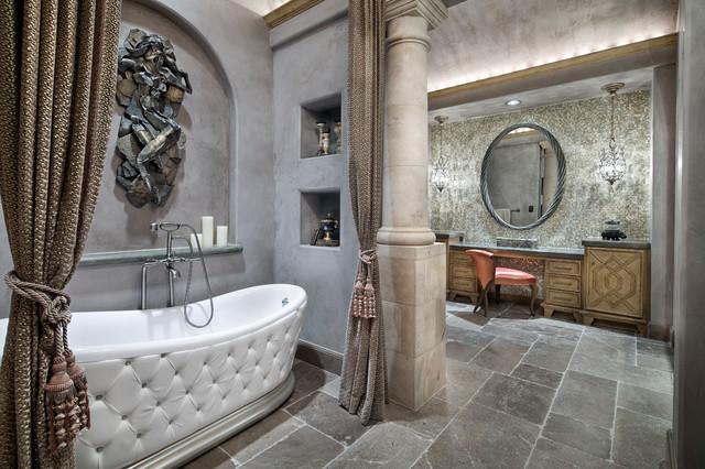 Memorial moroccan mediterranean bathroom houston for Bathroom designs houston
