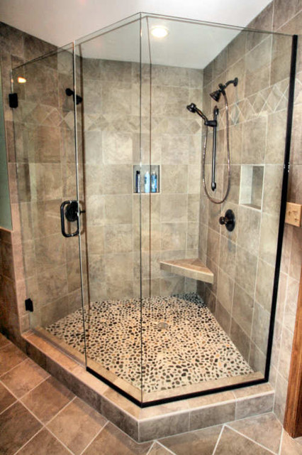 Mequon Custom Tiled Shower - Modern - Bathroom - Milwaukee - by Infinite Creations LLC