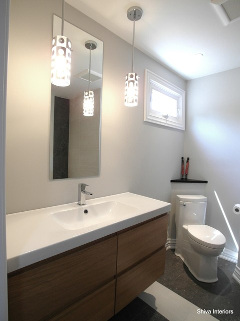 Merali split level contemporary bathroom ottawa by for Bathroom design ottawa