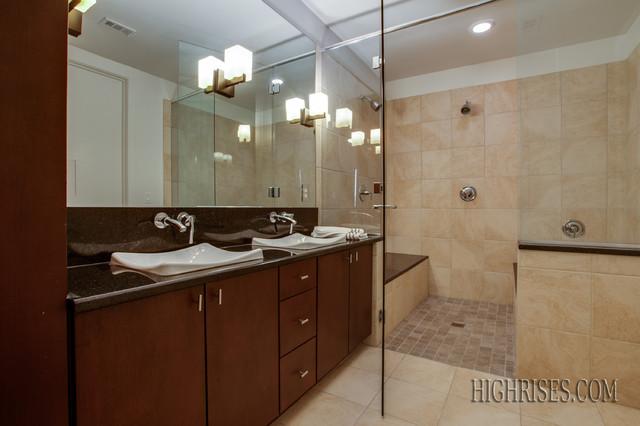 Mercer Square Condos in Dallas contemporary-bathroom