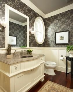 Merilane Avenue Residence 1 Powder Bathroom Traditional