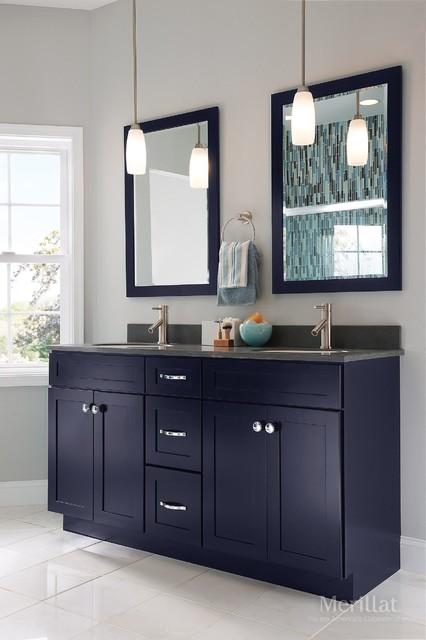 Merillat Masterpiece Martel In Maple Midnight Contemporary Bathroom