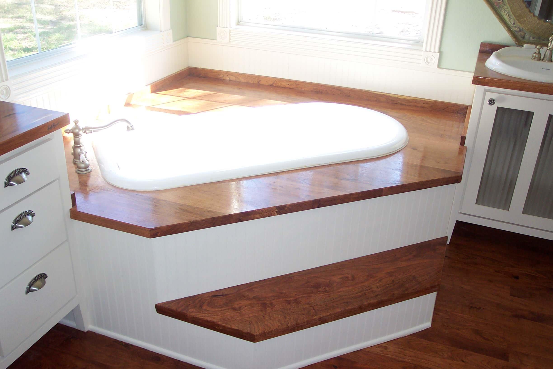 mesquite bathtub raised platform