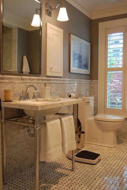 Cabbagetown Victorian Rowhouse Bathroom traditional-bathroom