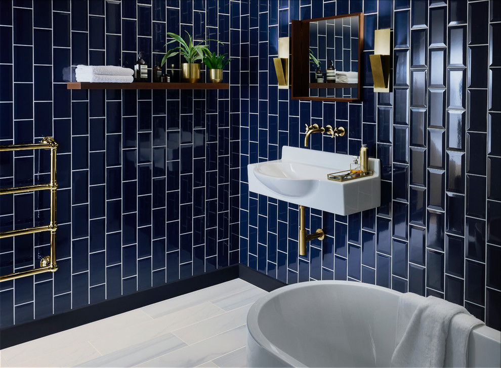 Metro Deep Blue Ceramic Tile