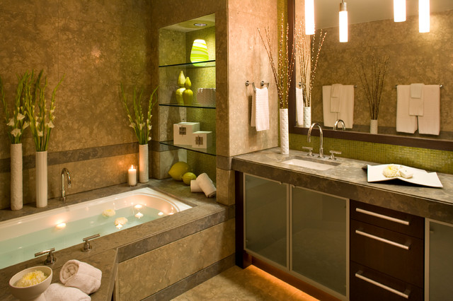 Metropolitan condo contemporary bathroom san diego by robin wilson interior design Bathroom design for condominium