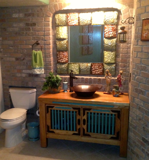 Mexican cantina eclectic bathroom denver by jh for Mexican themed bathroom ideas