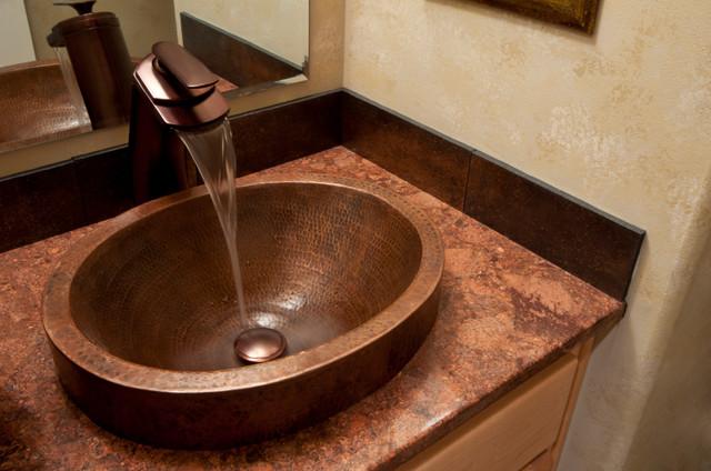 Mediterranean Bathroom Sinks: Mexican Copper Sinks