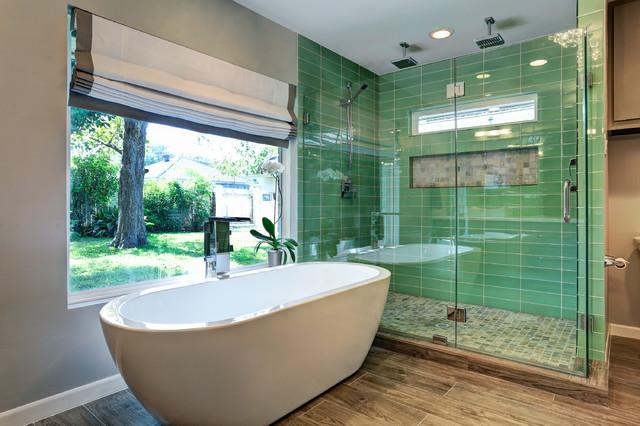 Meyerland master bath remodel contemporary bathroom for Bathroom ideas houston