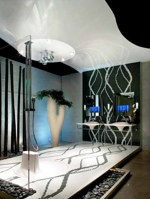 Miami Beach Bathrooms Modern Bathroom Miami By High Tech Ceiling