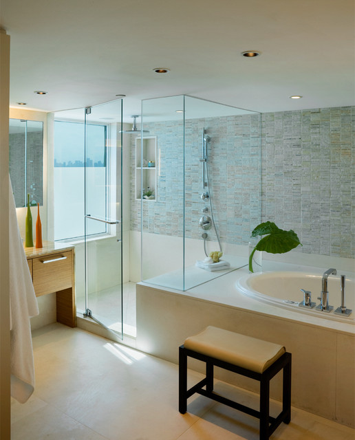 Miami Beach Oceanfront Residence Contemporary Bathroom Miami By Michael Wolk Design