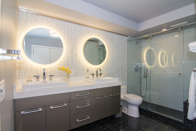 "Miami Condo....from ""eek"" to sleek! contemporary-bathroom"