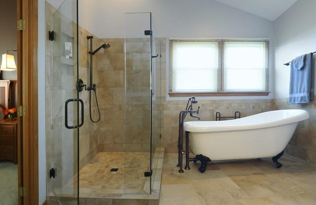 Miamisburg bathroom traditional bathroom cincinnati for Bathroom designs clawfoot tub