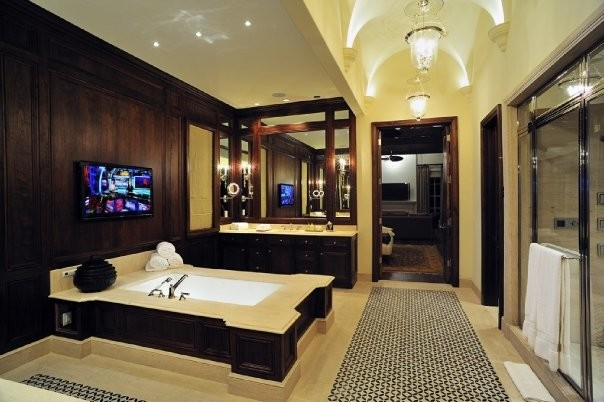 michael molthan luxury homes interior design group contemporary bathroom - Luxury Mansion Interior