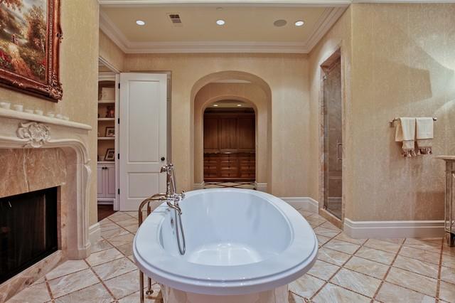 Michael Molthan Luxury Homes Interior Design Group Mediterranean Bathroom Dallas By