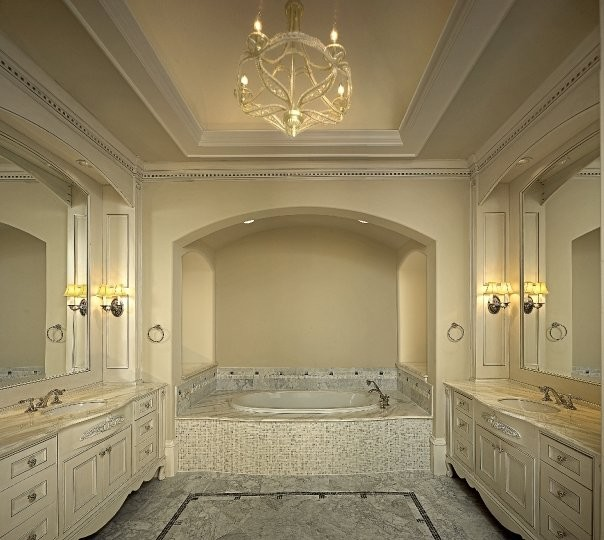 Michael molthan luxury homes interior design group traditional bathroom dallas by - Luxury bathroom designs with stunning interior ...