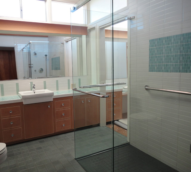 Mid Century Bath contemporary-bathroom