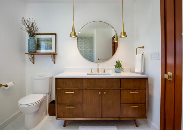 Mid Century Bathroom In El Segundo Ca Midcentury