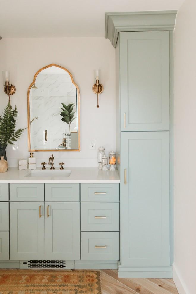 Mid Century Boho Bathroom Midcentury Bathroom Phoenix By Sollid Cabinetry Houzz