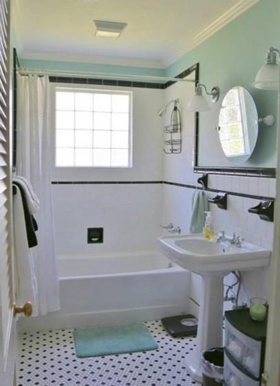 mid century cottage r tro salle de bain la nouvelle orl ans par m b smith design. Black Bedroom Furniture Sets. Home Design Ideas