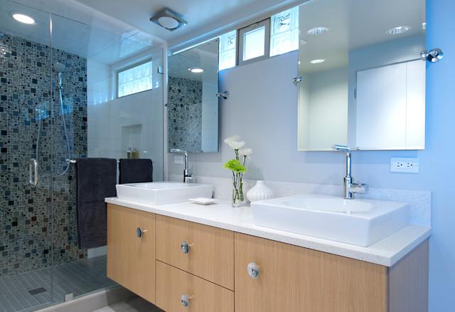 Mid-Century Home Redo contemporary-bathroom