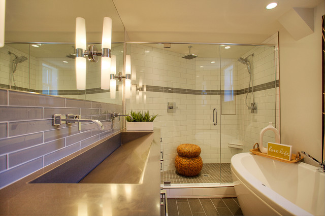 Mid Century Modern Bath Modern Bathroom Seattle By MRF