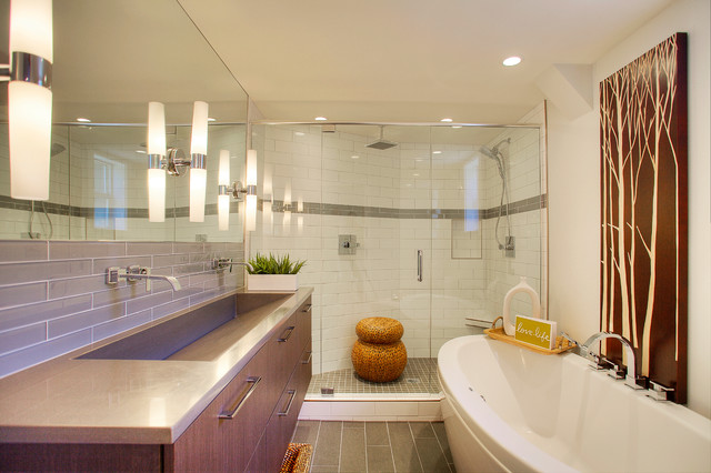 Mid Century Modern Bath Modern Bathroom Seattle By MRF Construction