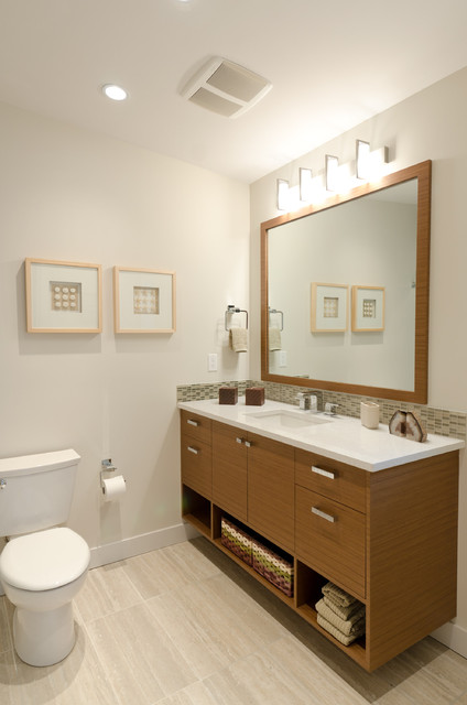 Mid Century Modern Coastal Getaway Midcentury Bathroom Vancouver By Denise Mitchell