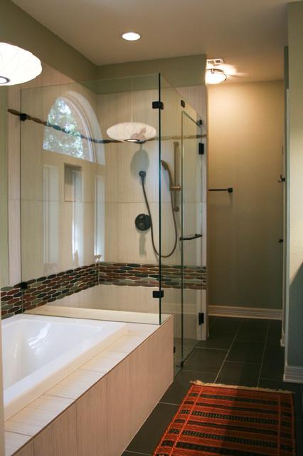 Mid Century Modern Inspired Master Bathroom Modern Bathroom Austin By Room Fu Knockout